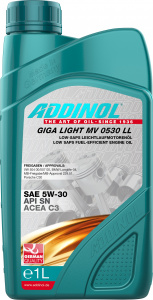 Uleiuri de motor ADDINOL GIGA LIGHT MV 0530 LL